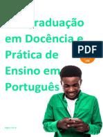 Pós Em Docência E Prática de Ensino Em Português