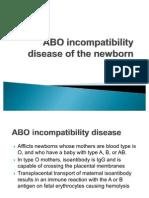 ABO incompatibility disease of the newborn