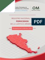 Registro Nacional de Femicidios 2020