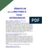 TRÂNSITO de Saturno Traduzido