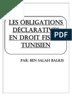Les Obligations Declaratives en Droit Fi
