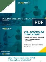 PIB, DESEMPLEO Y INFLACIÓN