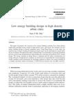 Low energy building design in high density