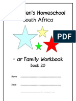 ar End-Word Family Workbook, Donnette E Davis, St Aiden's Homeschool
