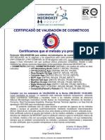 24-CERTIF.VALIDACION COSMETICA
