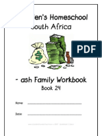 ash End-Word Family Workbook, Donnette E Davis, St Aiden's Homeschool