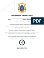 The Bedan Journal of Psychology  2011 vol 2