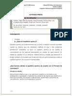 Reporte Práctica #2 Principio de LeChatelier
