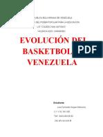 Evolucion del baloncesto en Venezuela.