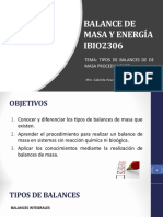 Tema 3. Tipos de balances de Masa