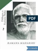 Dialogos con Ramana Maharshi I - Ramana Maharshi