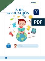 FICHA DE APLICACIÓN 3  V CICLO 14DE ABRIL