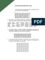 Segundos Ejercicios en Microsoft Excel (1)