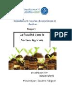 Rapport surla fiscalité agricole