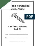 ew End-Word Family Workbook, Donnette E Davis, St Aiden's Homeschool, South Africa