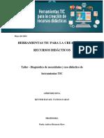 Taller - Diagnóstico de necesidades y uso didáctico de herramientas TIC