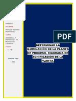 ING .Determinar La Iluminación de La Planta de Proceso. Diagrama de Zonificación de La Planta.