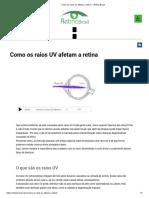 Como os raios UV afetam a retina — Retina Brasil