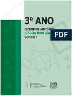 3 o ANO LÍNGUA PORTUGUESA CADERNO DE ATIVIDADES VOLUME I