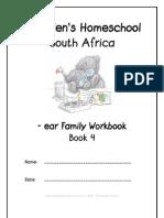 ear End-Word Family Workbook, Donnette E Davis, St Aiden's Homeschool, South Africa