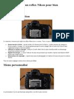 APN-Comment Régler Un Reflex Nikon Pour Bien Démarrer