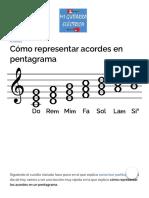 〖 Cómo representar acordes en pentagrama 〗 Explicación clara y ejemplos