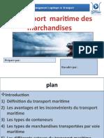 Le transport maritime des marchandises