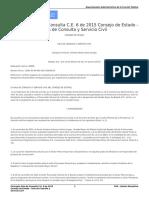 Concepto Sala de Consulta C.E. 6 de 2015 Consejo de Estado - Sala de Consulta y Servicio Civil