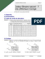 TP 32.1 Codeur Binaire Naturel - 7 Segments _Afficheur_ Corrigé