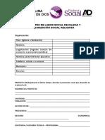 REGISTRO DE LABOR SOCIAL DE IGLESIA Y ORGANIZACIÓN SOCIAL RELIGIOSA