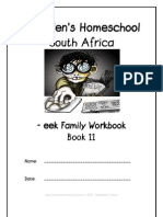 eek End-Word Family Workbook, Donnette E Davis, St Aiden's Homeschool, South Africa
