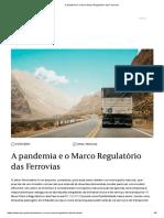A Pandemia e o Novo Marco Regulatório Das Ferrovias