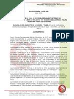 Resolucion Reglamento interno Comite de libertad religiosa - Alvarado ( REVISION)