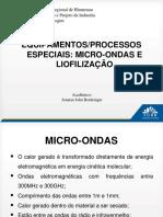 Micro-ondas e Liofilização