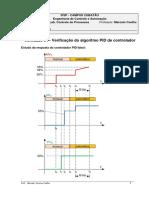 Verificação do algoritmo PID de controlador