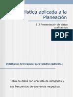 1.3 Presentación de datos cualitativos