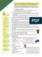 Home Work Car Kit Lists, from San Francisco NERT