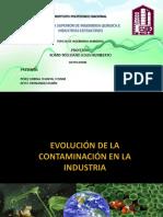 Evolución de la contaminación en la industria