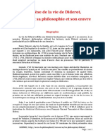 DIDEROT BIOGRAPHIE SYNTHESE 3 PAGES