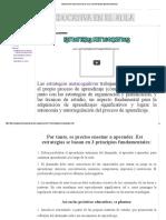 INNOVACIÓN EDUCATIVA EN EL AULA_ ESTRATEGIAS METACOGNITIVAS