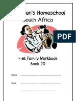 et End-Word Family Workbook, Donnette E Davis, St Aiden's Homeschool, South Africa