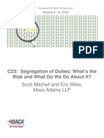 C23 - Segregation of Duties