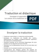 Traduction Et Didactique Les Acteurs de La Traduction