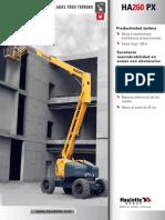 Ficha tecnica plataforma articulada Haulotte HA26PX