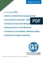 - Diseño y Mantenimiento de Páginas Web. - Posicionamiento Web SEO _ SEM _ SMM. - Formación en Social Media y Marketing Digital (1)