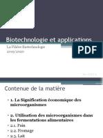 Biotechnologie et applications 1 &2
