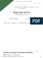 Instalar y Orientar una Antena Parabolica – Mega Team del FTA
