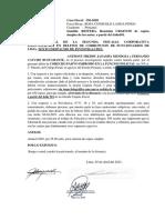 FERNANDO CAYCHO BUSTAMANTE - REITERA URGENTE REMISION DE COPIAS A PARTIR DE FOLIOS 501.