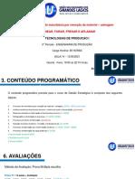 TPI_14_Processos de manufatura por remoção de material - usinagem - AULA 02
