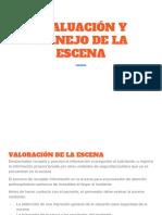 EVALUACIÓN Y MANEJO DE LA ESCENA